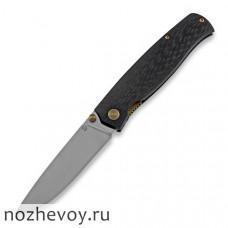Складной нож Cheburkov Strizh small M390 Carbon Fiber, bronze hw